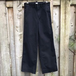 High Rise Wide Leg Black Denim